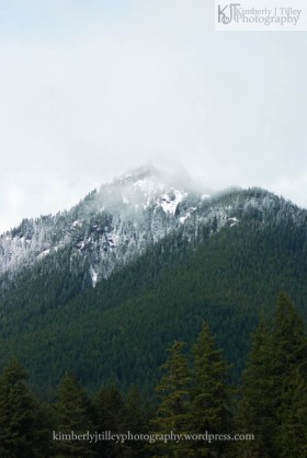 a little dusting of snow to cover a mountain top
