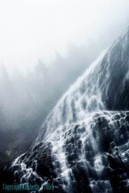 landscape, waterfall, washington, photograph, nature, fog,